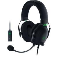 Blackshark V2 Headset 3,5 mm stik Sort, Grøn, Gaming headset