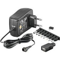 NTS 1500 EuP MW 3R15GS strømadapter og vekselret Sort, Strømforsyning