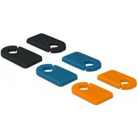 18293 kabelorganisator Kabelmarkører Sort, Blå, Orange 6 stk, Kabel klip