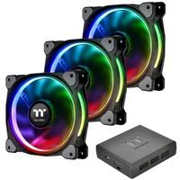 Riing Plus Computerkabinet Ventilator 12 cm Flerfarvet, Sag fan
