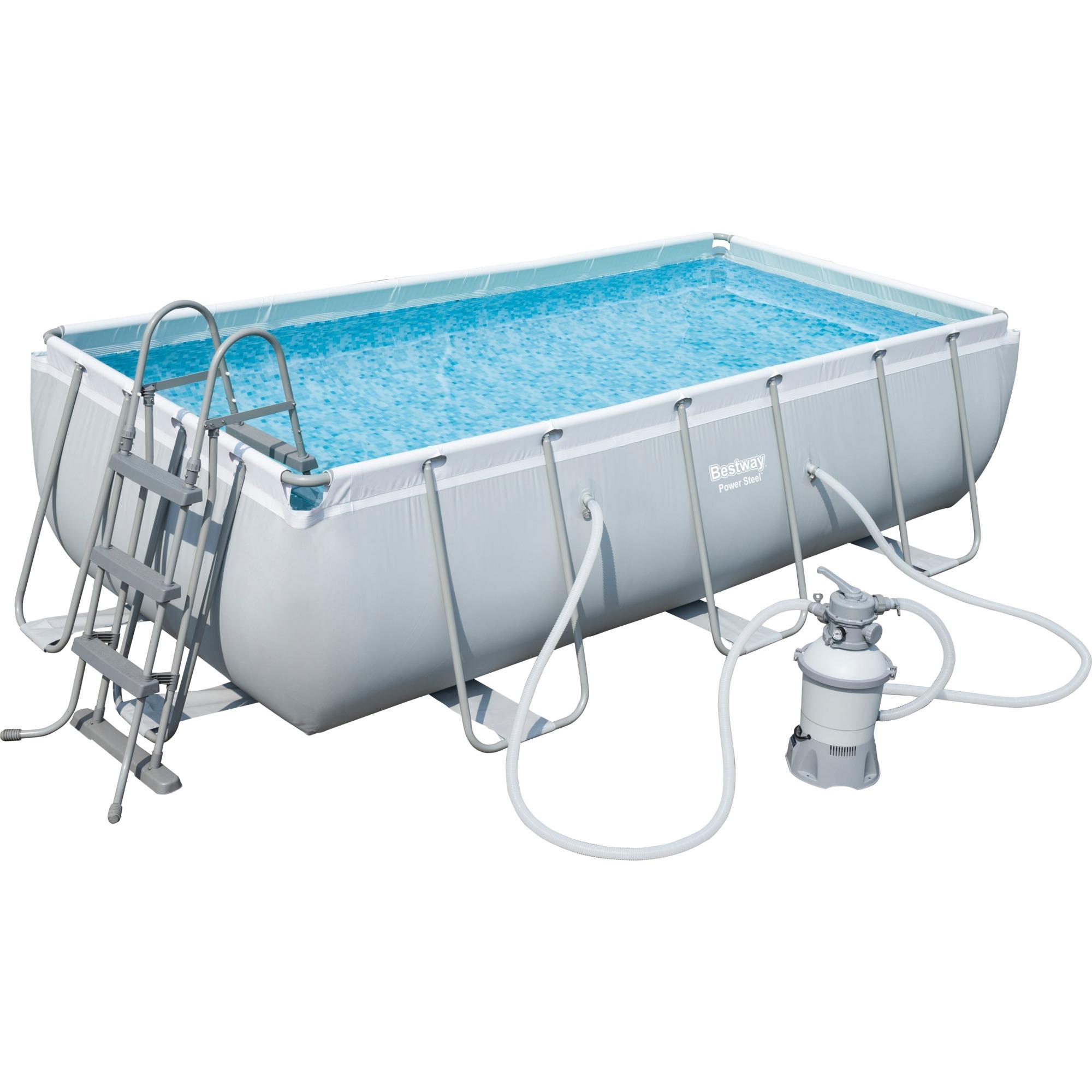 power-steel-56442-framed-pool-rectangular-pool-6478l-blaa-graa-swimmingpool-til-over-jorden-swimming-pool