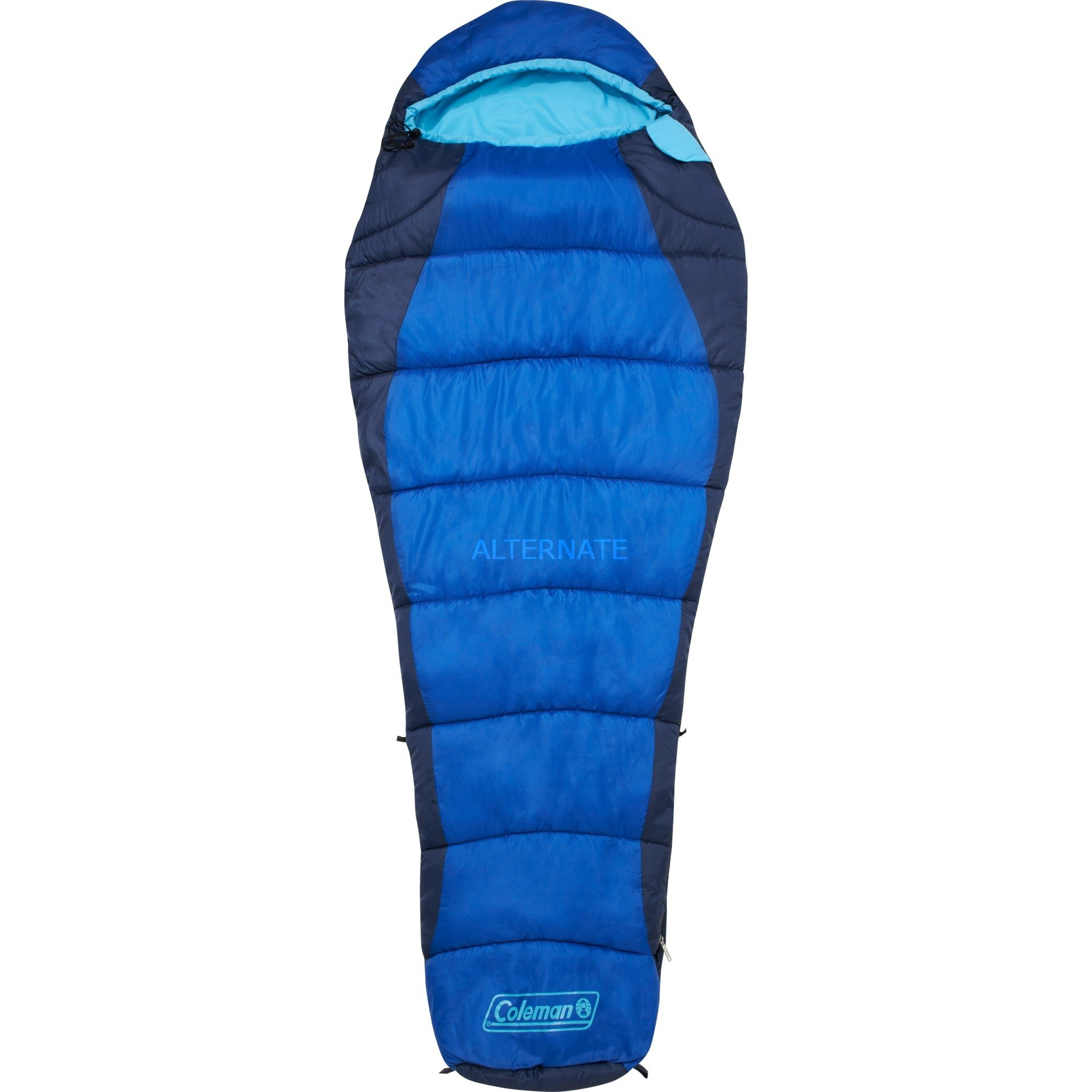 sovepose-fision-voksen-semi-rectangular-sleeping-bag-polyester-blaa