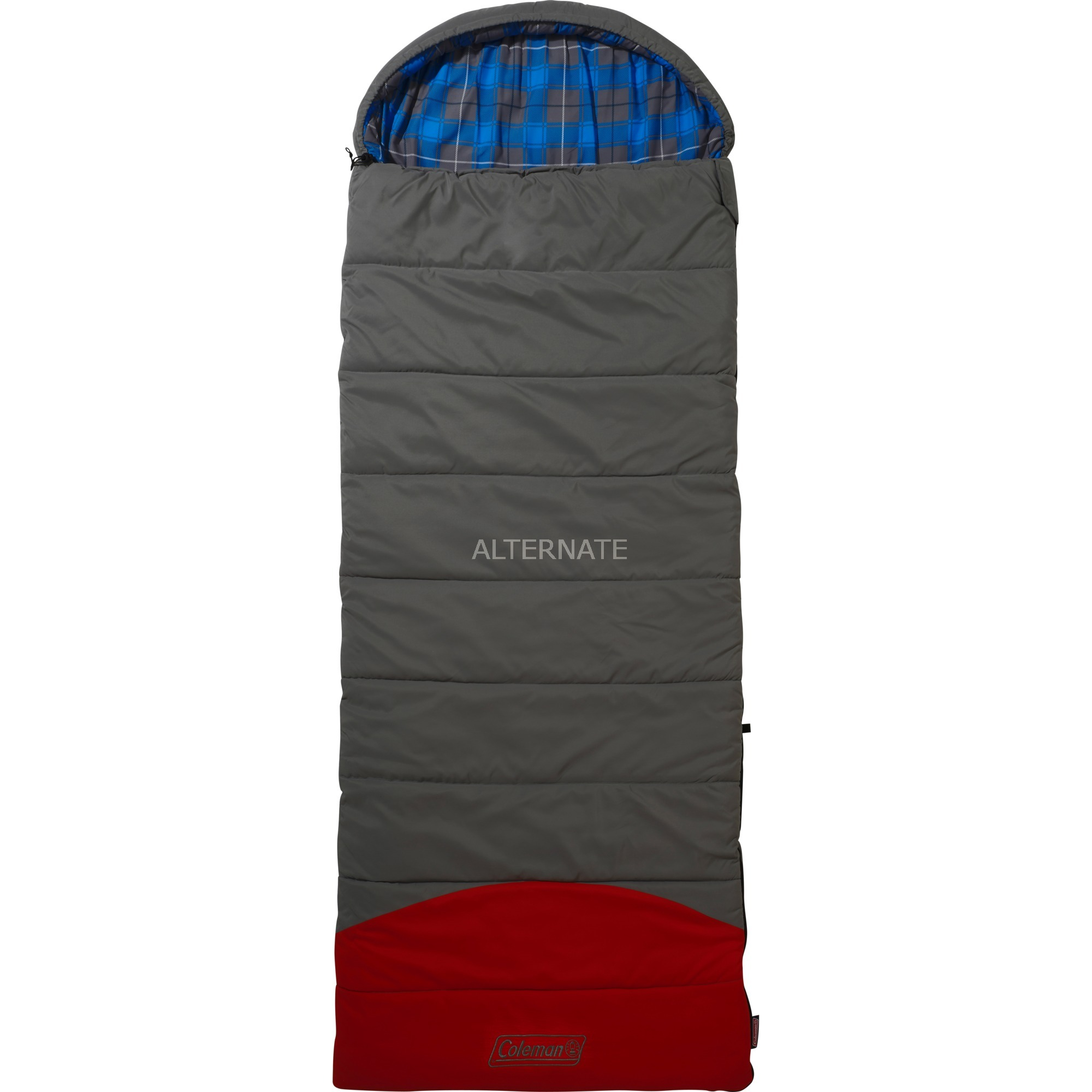 sovepose-voksen-rectangular-sleeping-bag-polyester-graa-rod-sovepose