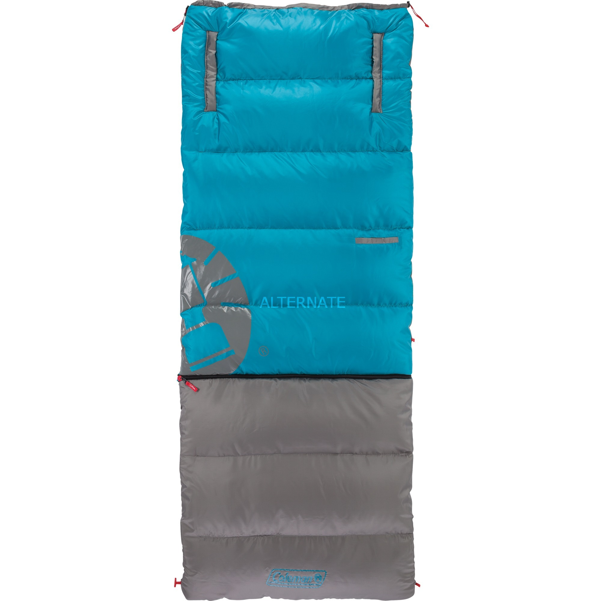 sovepose-walkaround-mobile-voksen-rectangular-sleeping-bag-polyester-blaa-graa