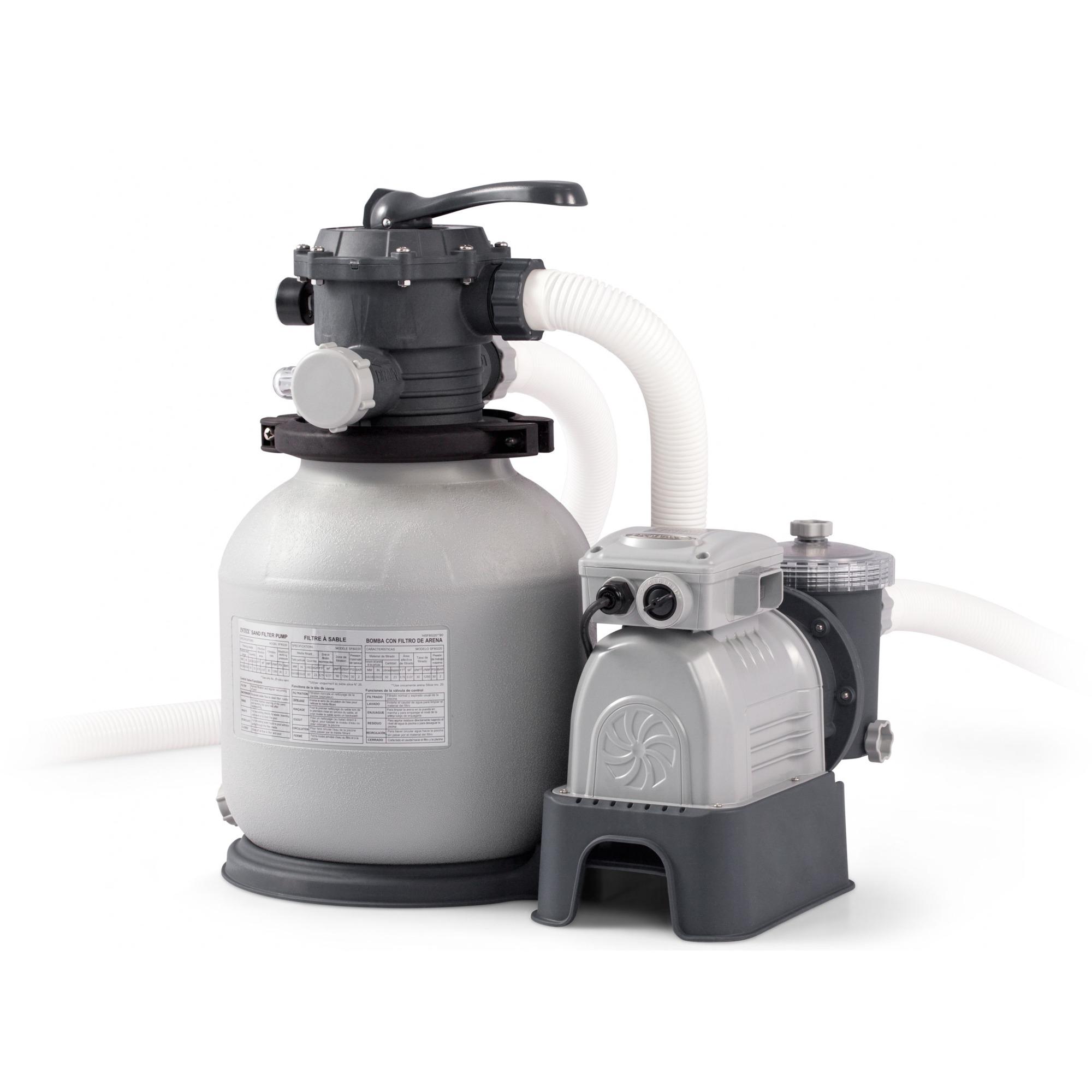 Smart Intex 28652 Sandfilterpumpe tilbehør til pool, Vandfilter grå NS92