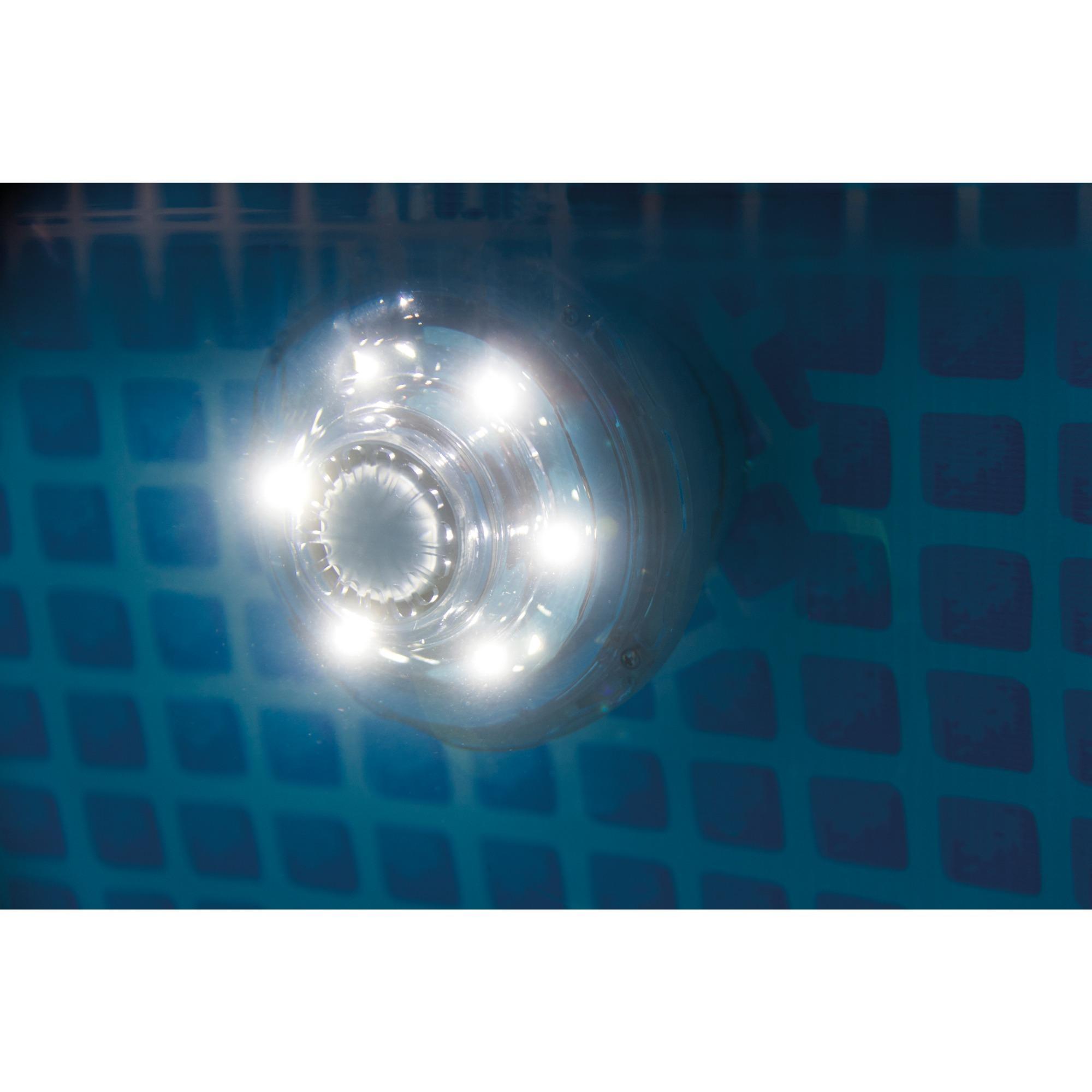 Smuk Intex 2869 Tilbehør Til Pool, LED-lampe Transparent, Hvid, LED, 3,8 cm VU-67