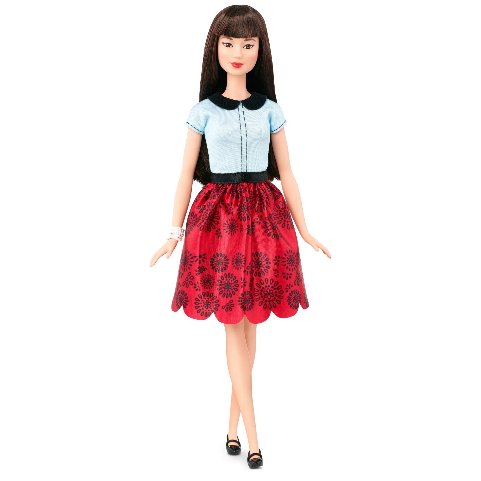 barbie-fashionista-i-rod-blomsternederdel-dukke