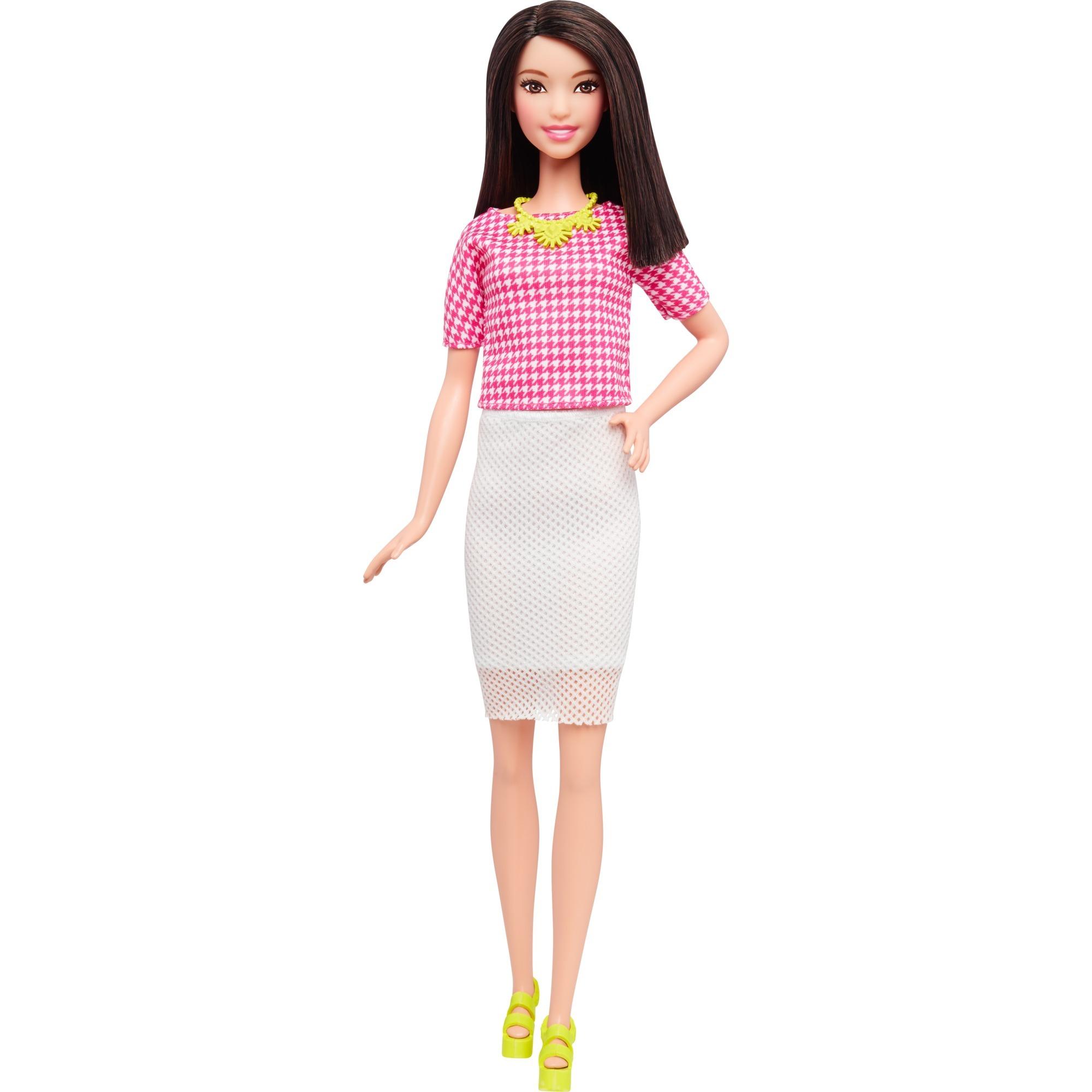 barbie-fashionista-med-hvid-nederdel-dukke