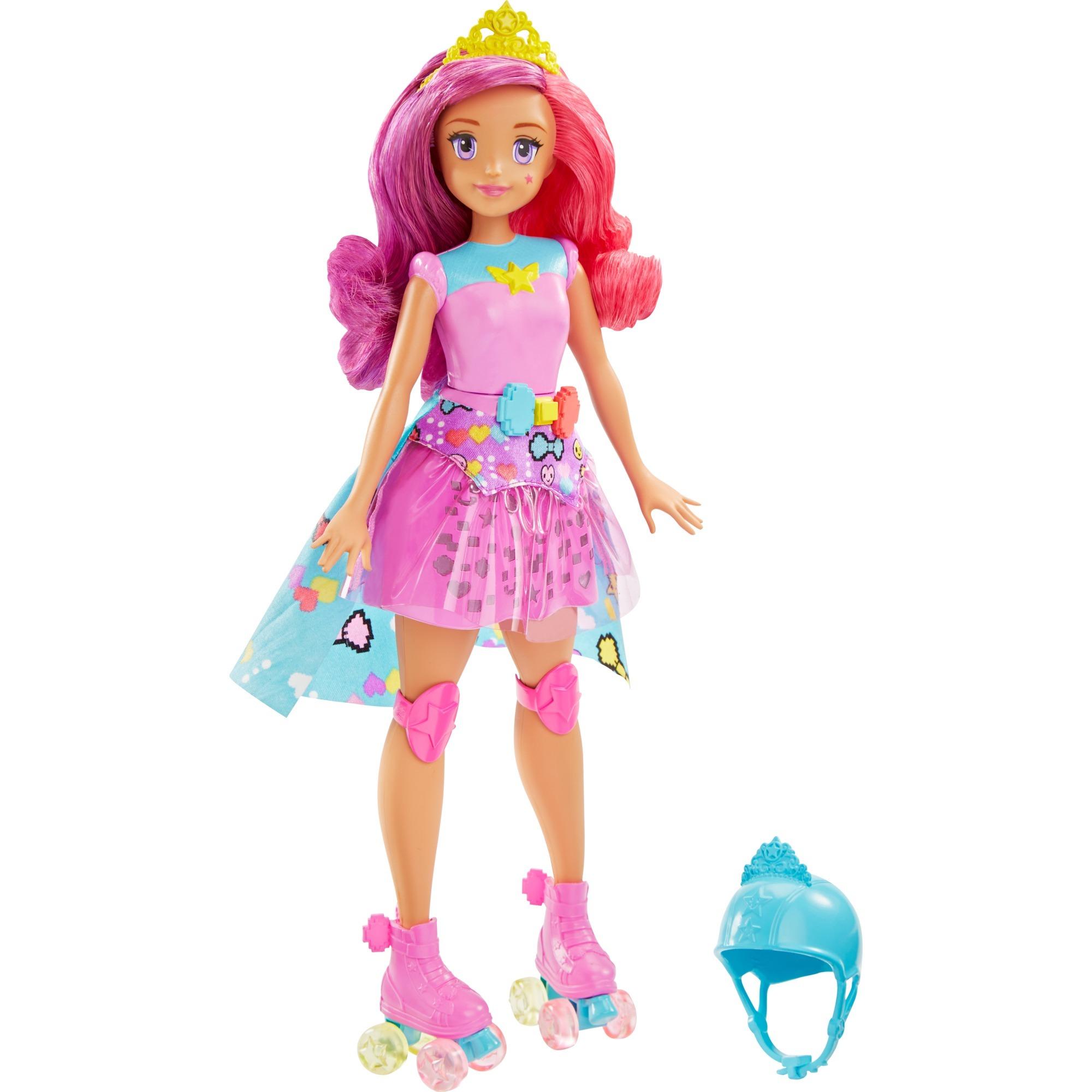 barbie-prinsesse-med-rulleskojter-dukke