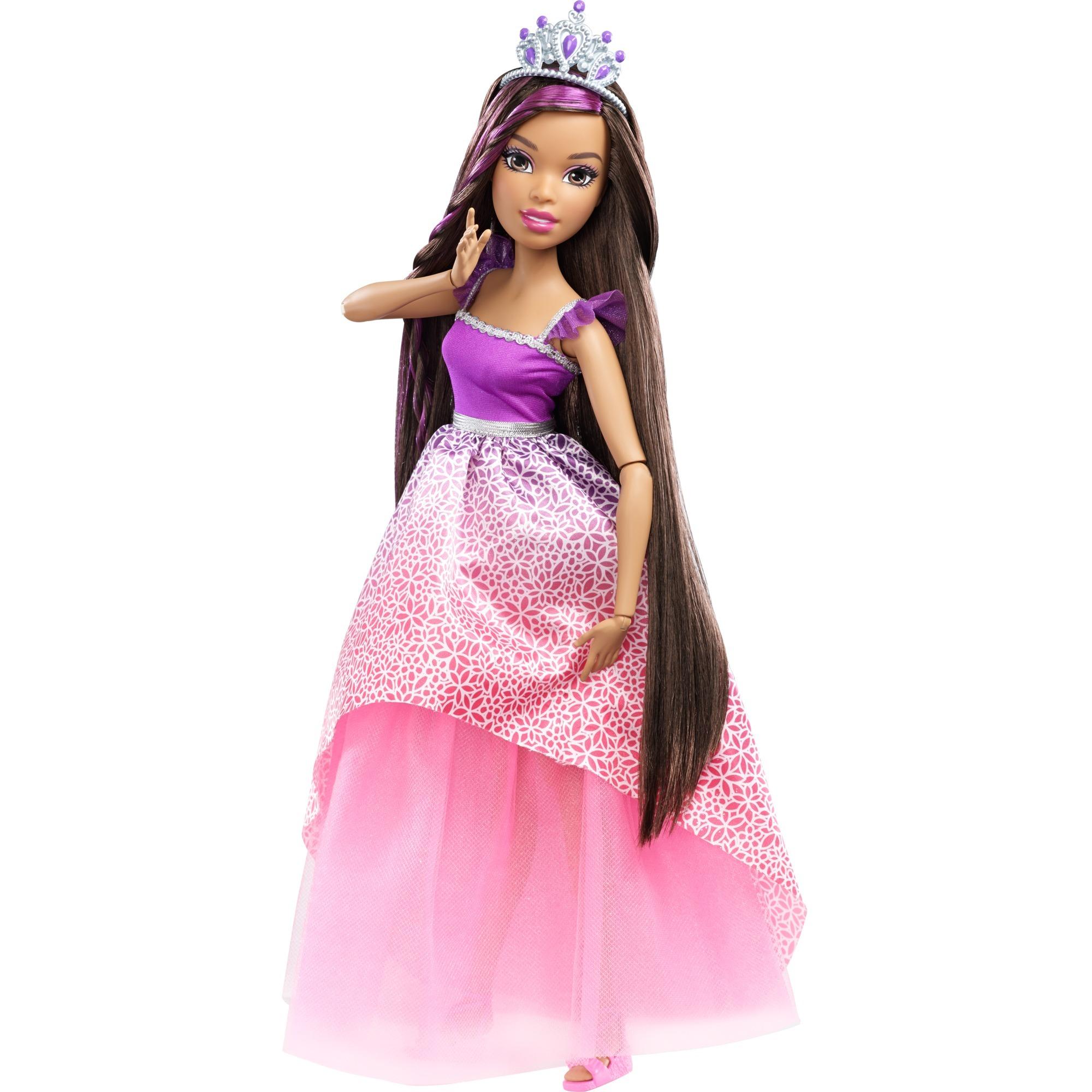 barbie-stor-dukke-prinsesse-pop-med-langt-brunt-haar
