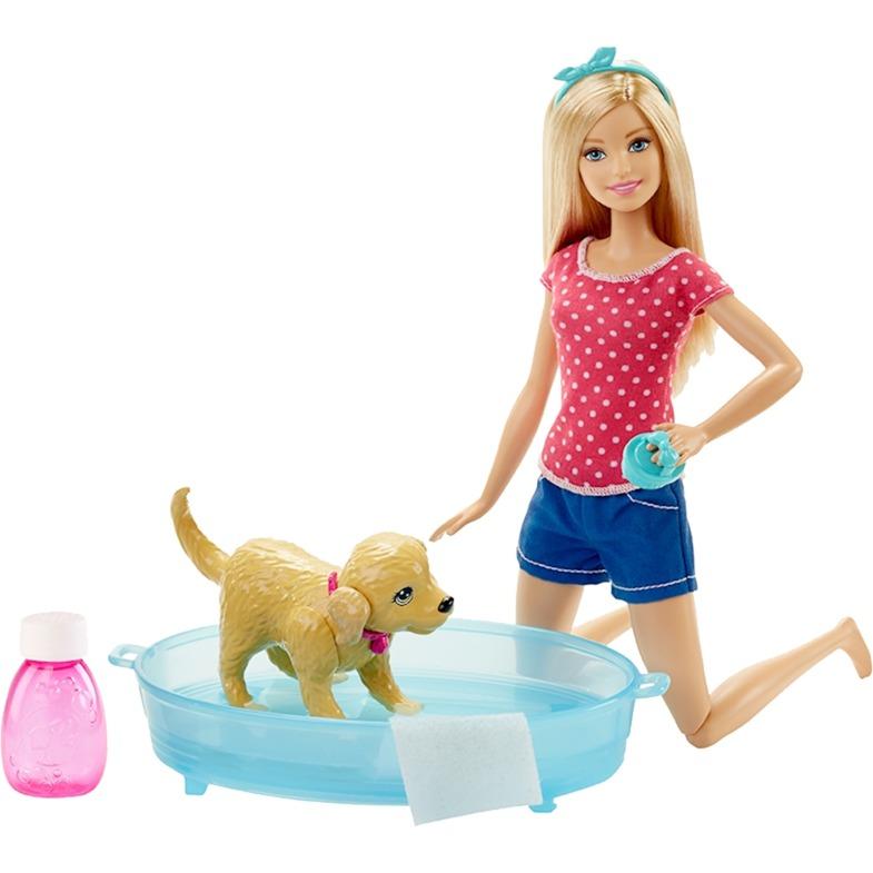 hundehvalp-i-badet-barbie-dukke