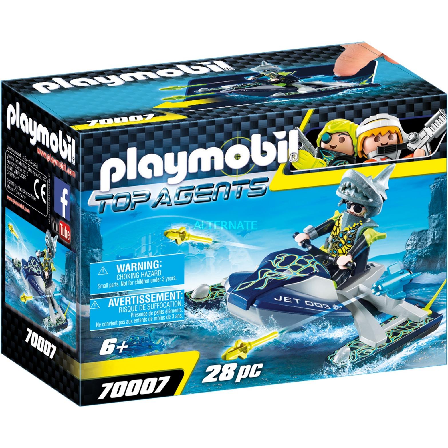 Populære PLAYMOBIL Top Agents TEAM S.H.A.R.K. Rocket Rafter, Bygge legetøj WW-92