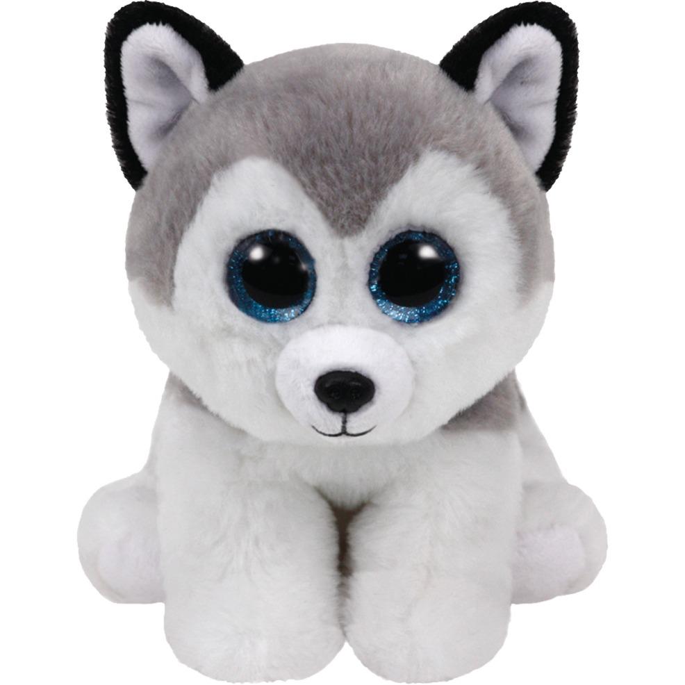 buff-legetojshund-graa-hvid-plysdyr