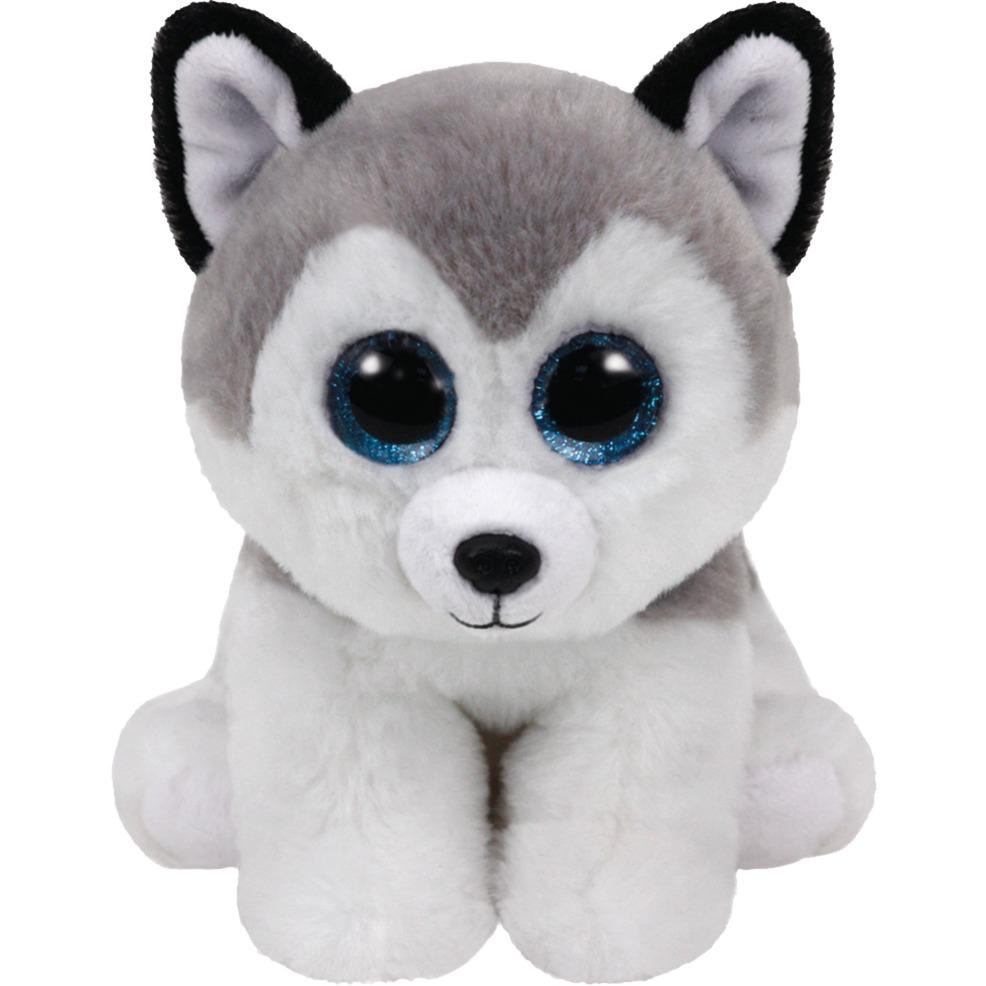 buff-legetojshund-sort-graa-hvid-plysdyr