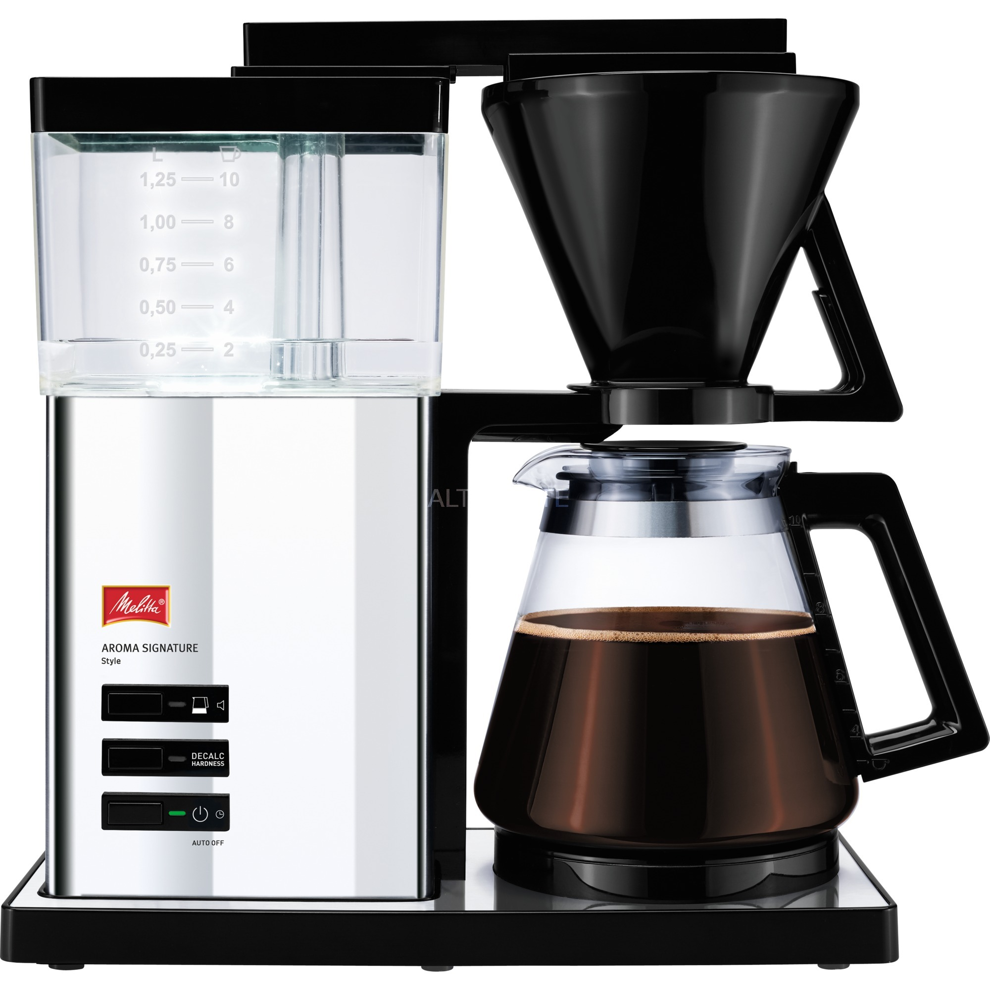 aroma-signature-style-fritstaaende-semi-auto-draabe-kaffemaskine-125l-10kopper-sort-solv-filter-maskine