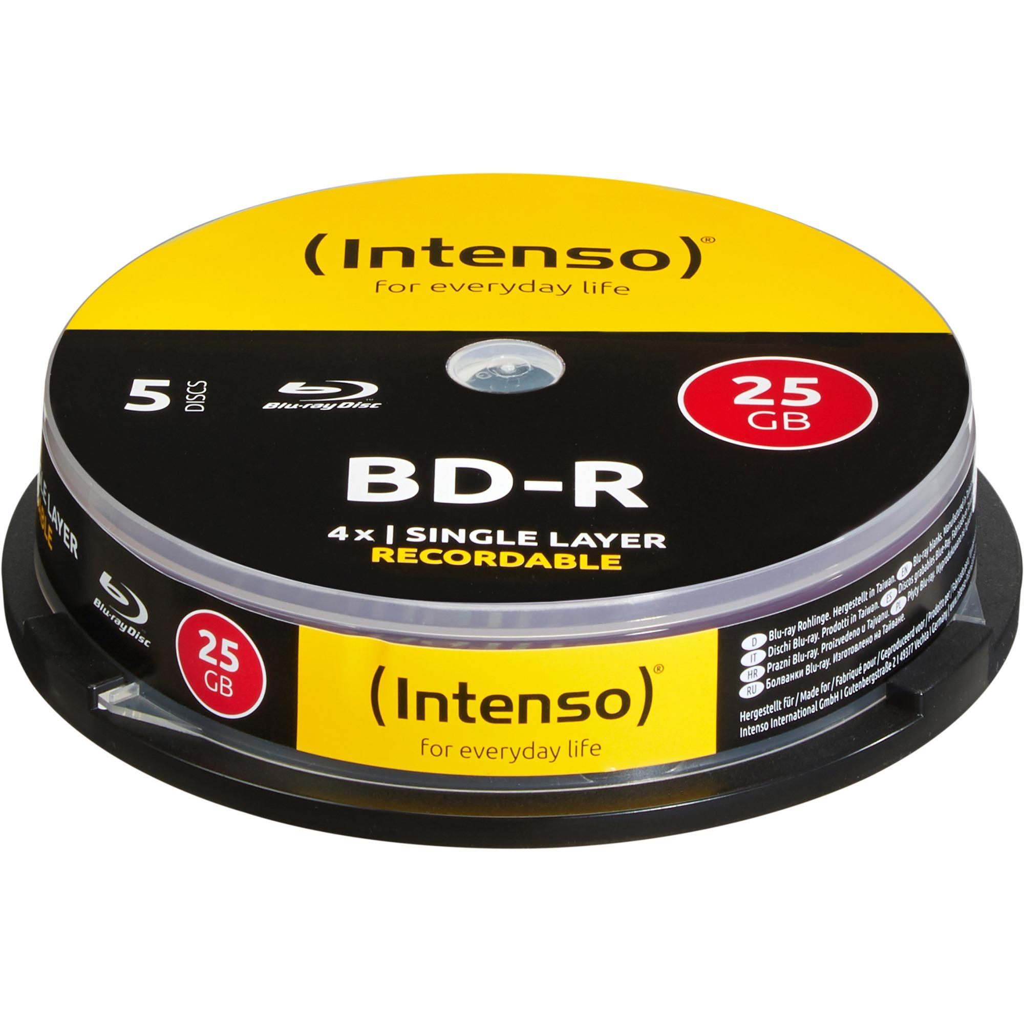 5001111-25gb-bd-r-5pcs-readwrite-blu-ray-medie-bd-blu-ray-diske