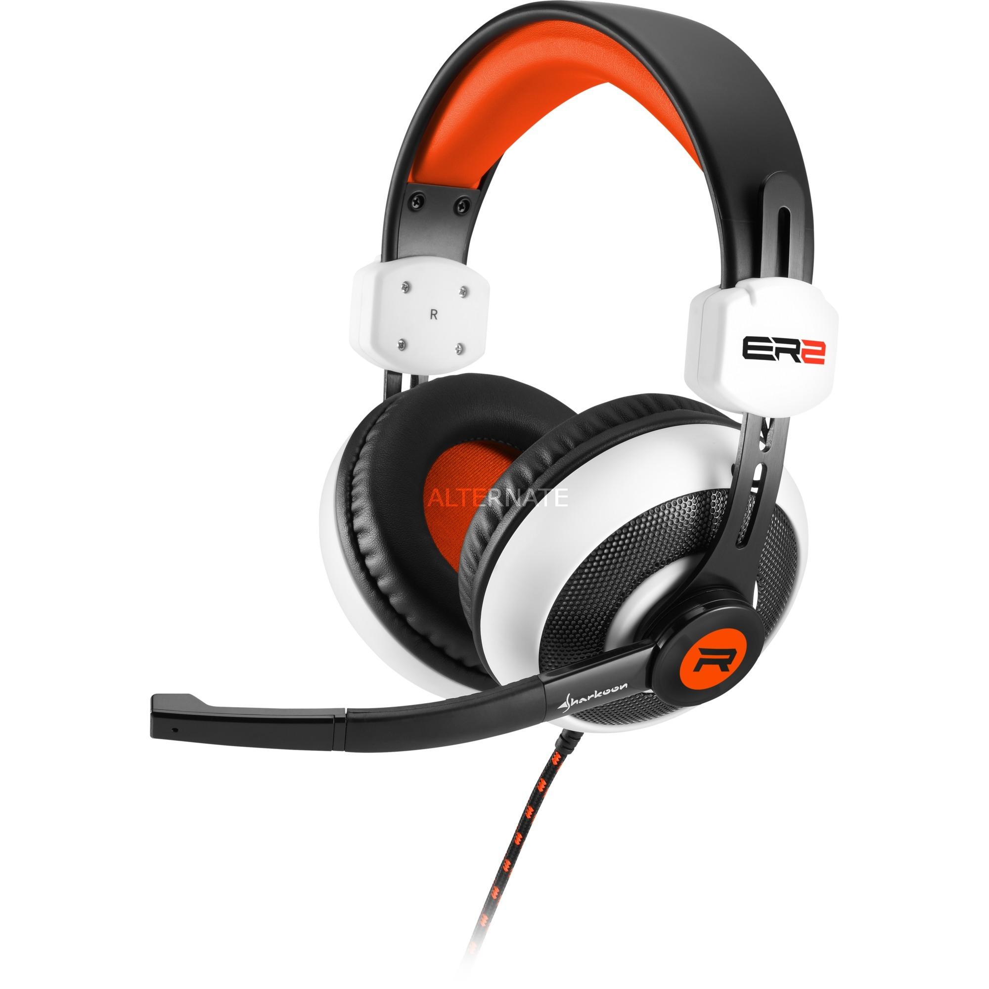 rush-er2-binaural-pandebaand-sort-rod-hvid-headsat-headset