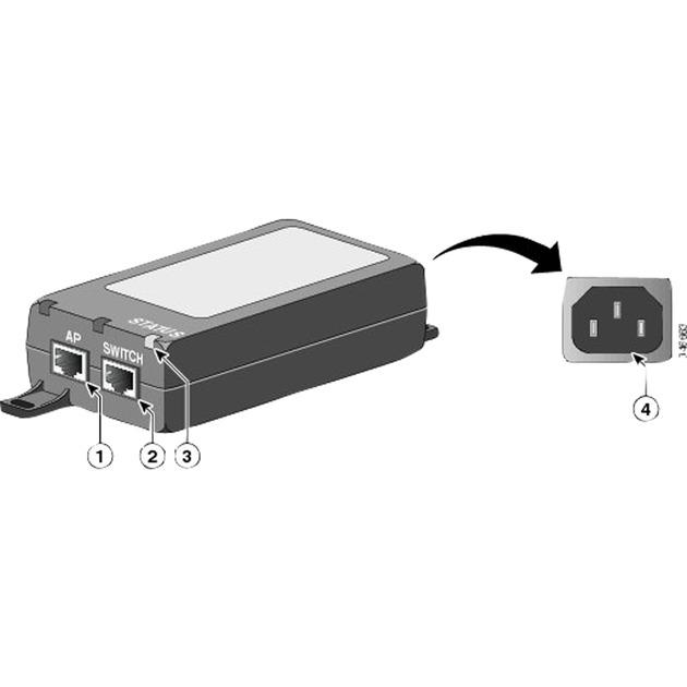 air-pwrinj5-gigabit-ethernet-poe-adapter-og-injector-stromforsyning