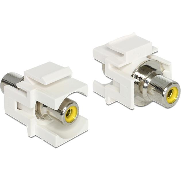 86306-rca-rca-gul-kabelinterface-samt-han-og-hun-adaptor-adapter