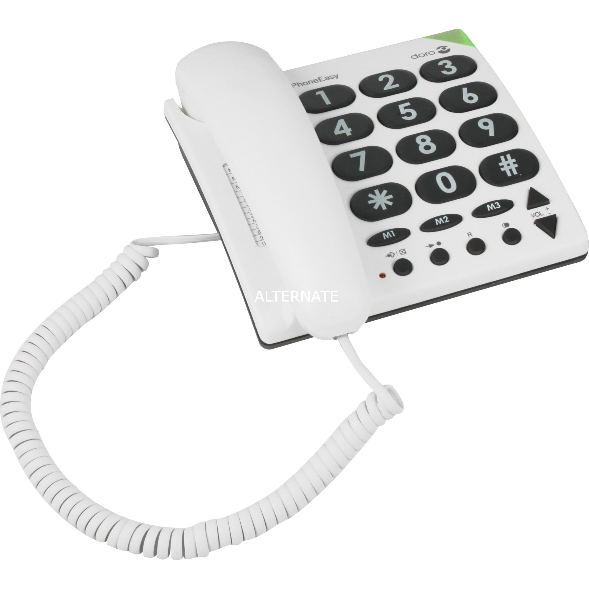 phoneeasy-311c-analog-telephone-hvid-analog-telefon