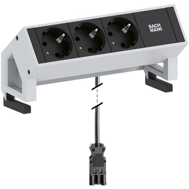 desk-2-indendors-3ac-outlets-02m-sort-hvid-stikdaase-stromskinne