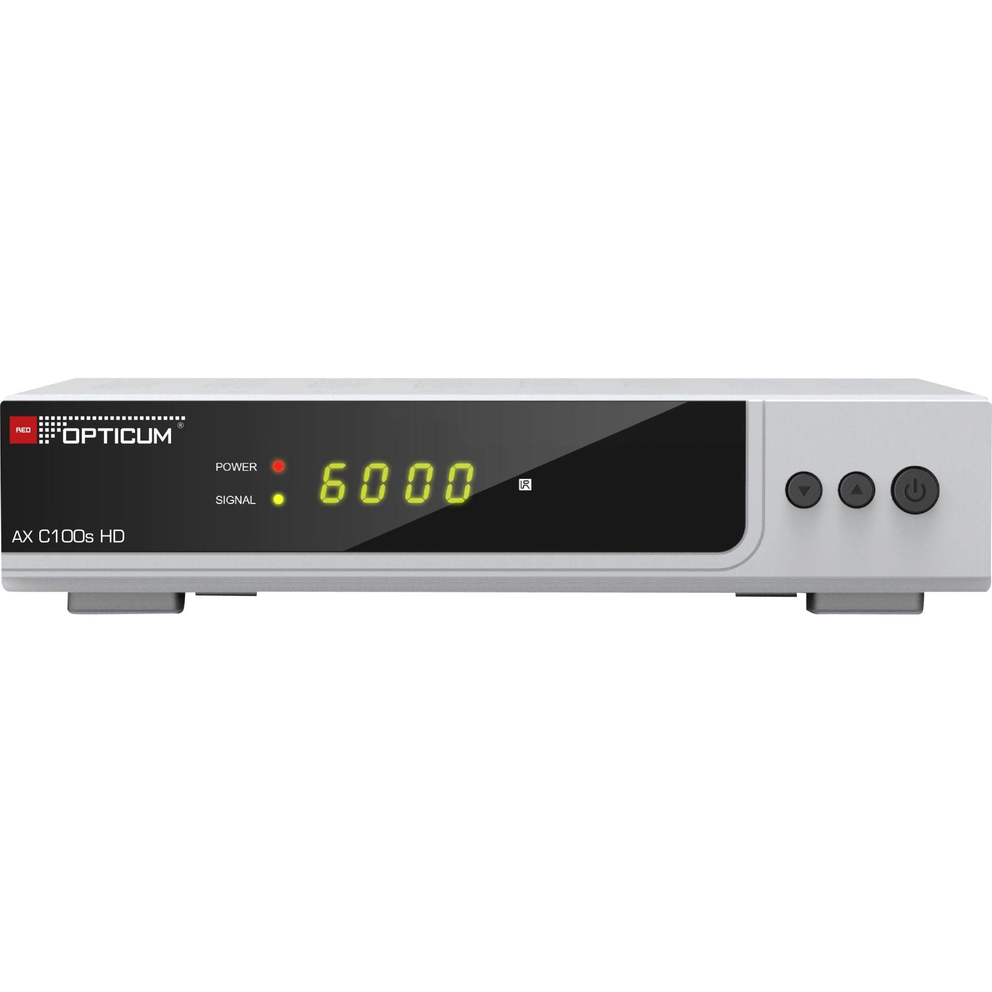 AX HD C100s Ledning Fuld HD Sølv TV set-top boks, Kabel-modtager